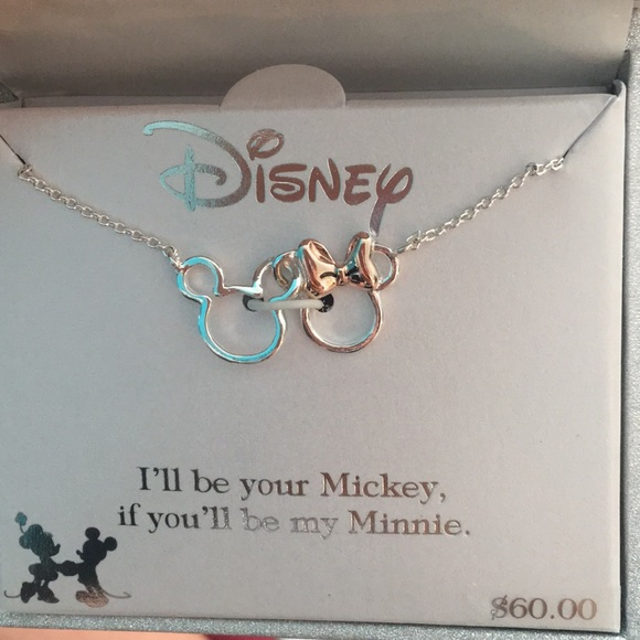 94ca4a7f185 Disney Mickey and Minnie necklace. (ss)